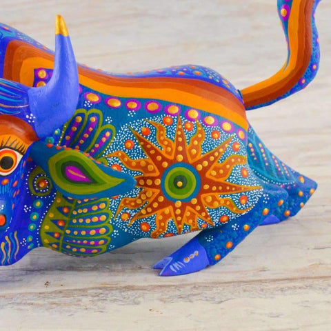Bison Alebrije Oaxacan Wood Carving