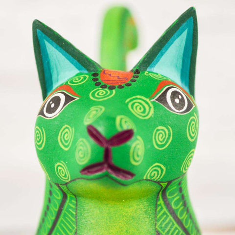 Image of Cat Alebrije Oaxacan Wood Carving