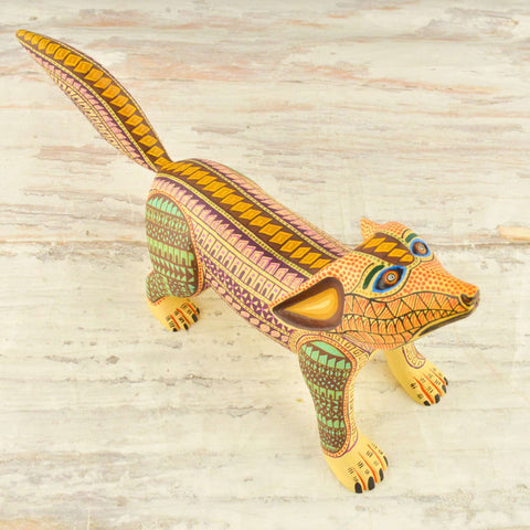 Coyote Alebrije Oaxacan Wood Carving - Magia Mexica