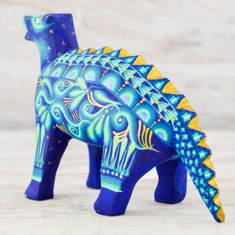 Image of Dinosaur Alebrije Oaxacan Wood Carving