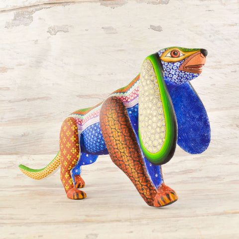 Image of Dog Alebrije Oaxacan Wood Carving - Alebrije Huichol Mexican Folk art magiamexica.com