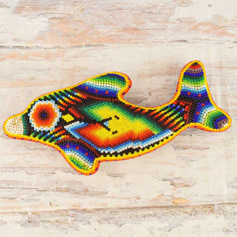 Image of Dolphin Huichol Art