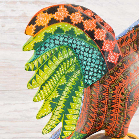Image of Eagle Alebrije Oaxacan Wood Carving - Alebrije Huichol Mexican Folk art magiamexica.com