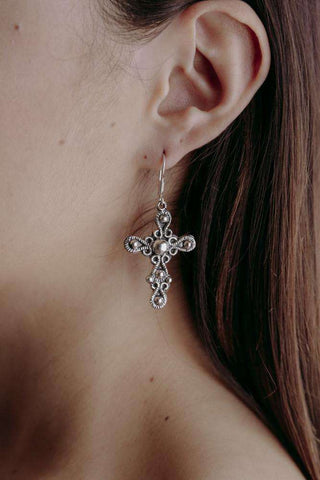Image of Earrings Cross