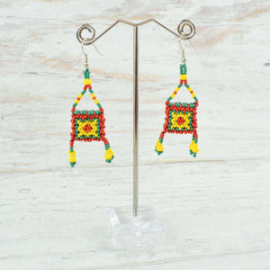 Earrings - Alebrije Huichol Mexican Folk art magiamexica.com
