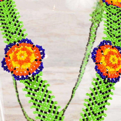 Image of Necklace Earrings Huichol Art - Alebrije Huichol Mexican Folk art magiamexica.com