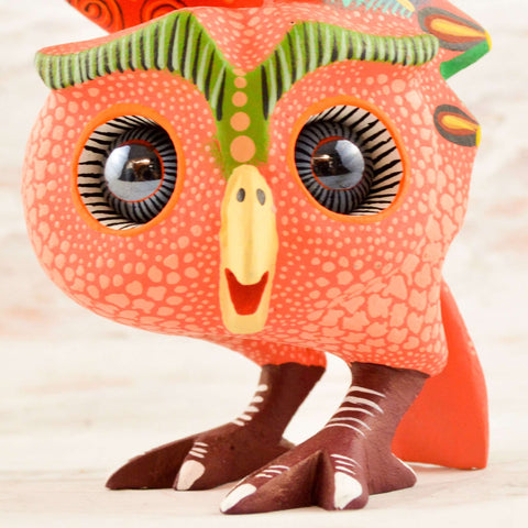 Image of Owl Alebrije Oaxacan Wood Carving - Magia Mexica