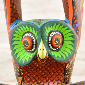 Owls Alebrije Oaxacan Wood Carving - Magia Mexica