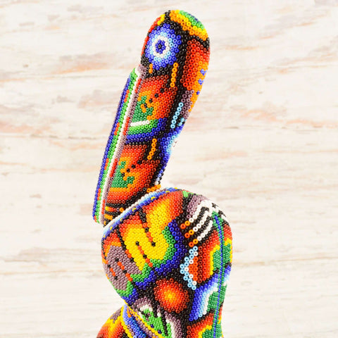 Image of Pelican Huichol Art