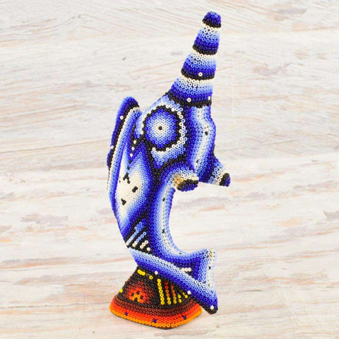 Image of Sailfish Huichol Art - Alebrije Huichol Mexican Folk art magiamexica.com