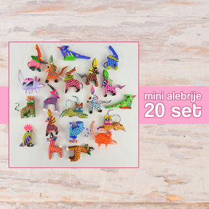 Mini Alebrijes 20 Set Alebrije Oaxacan Wood Carving - Magia Mexica