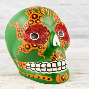 Skull Day of the Dead - Alebrije Huichol Mexican Folk art magiamexica.com