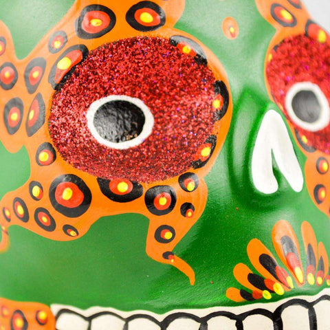 Image of Skull Day of the Dead - Alebrije Huichol Mexican Folk art magiamexica.com