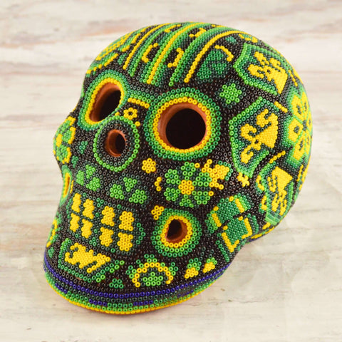 Image of Skull Huichol Art - Magia Mexica