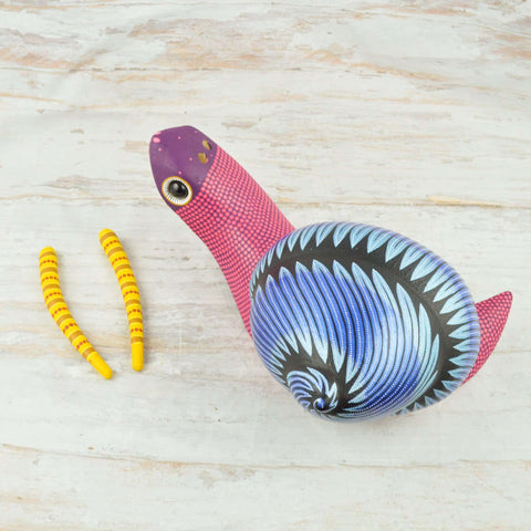 Image of Snail Alebrije Oaxacan Wood Carving - Magia Mexica