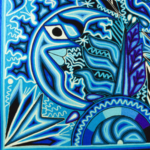 "Yarn Painting Huichol Art 23"" - Magia Mexica"