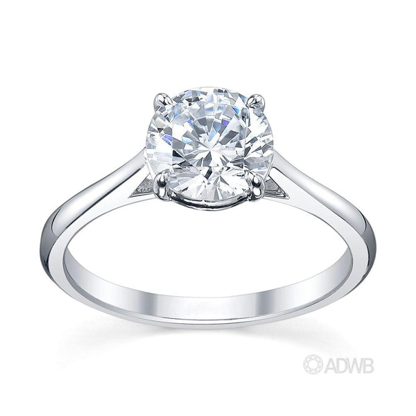 Engagement Rings – round brilliant cut diamond solitaire ring