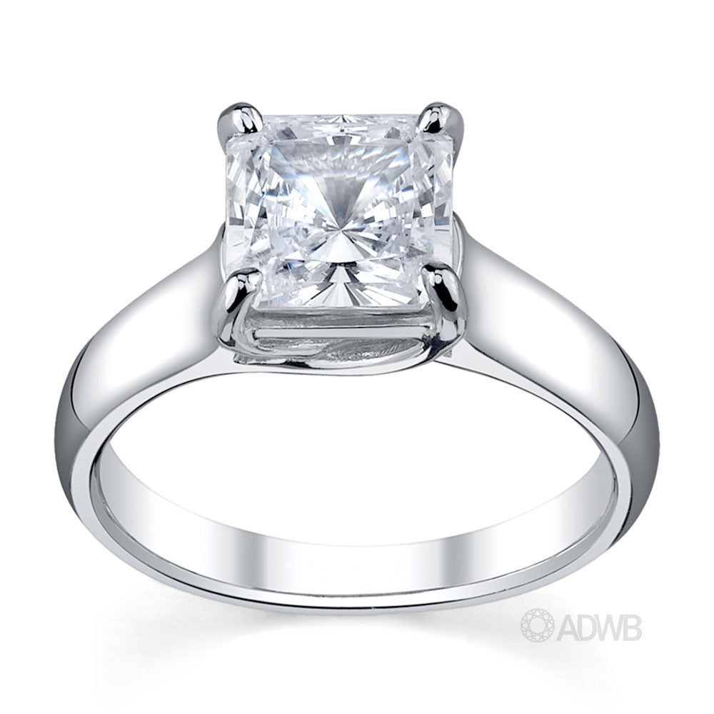 Australian Diamond Broker - Royal X prong princess cut ring