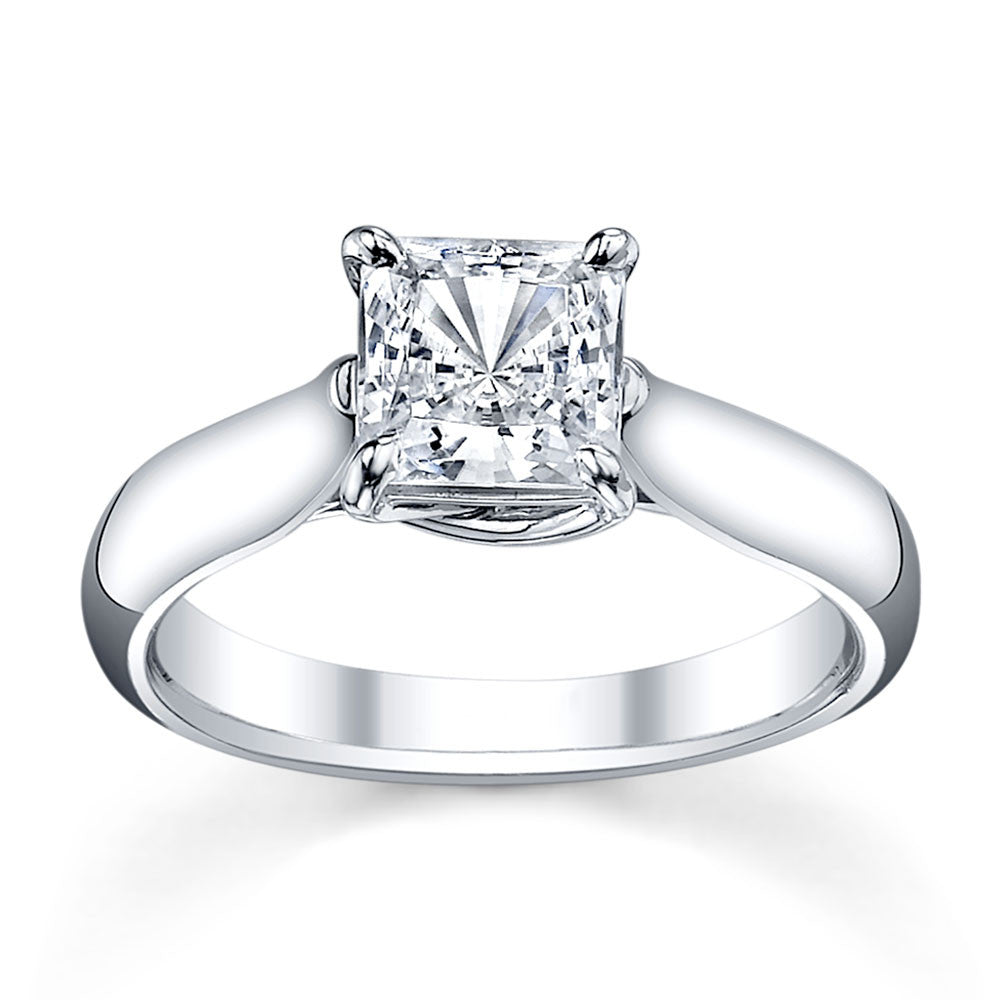 Australian Diamond Broker - Cross claw solitaire princess cut diamond ring