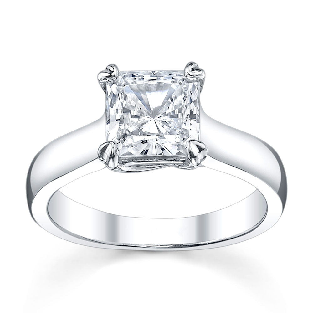 Australian Diamond Broker - Cross double claw princess cut diamond solitaire ring