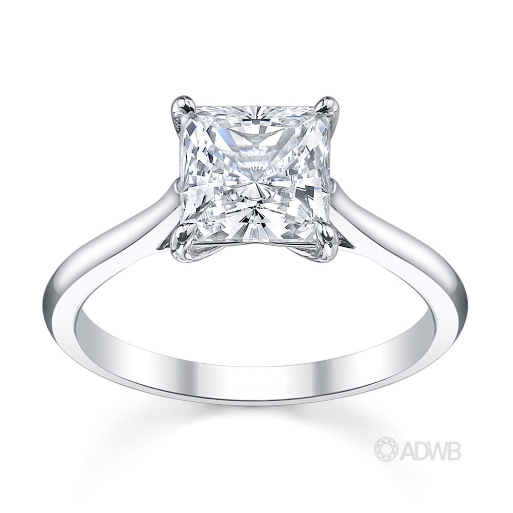 Emily princess cut diamond solitaire engagement ring