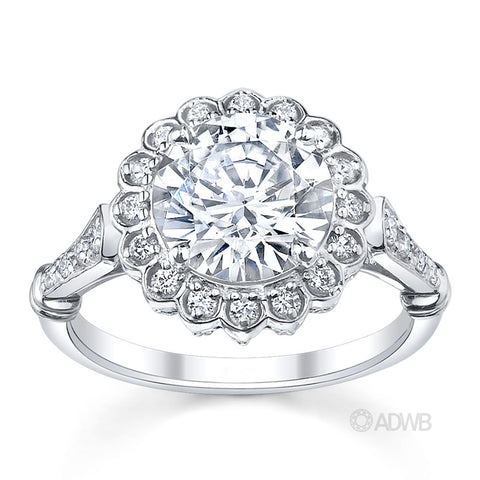 Countess diamond halo engagement ring