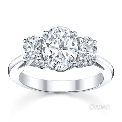 Australian Diamond Broker - Oval cut 3 stone diamond ring