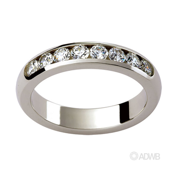 Aurora 18ct White Gold Wide Diamond Wedder