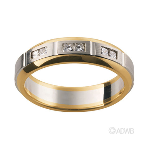 18ct White and Yellow Gold Diamond Set Band