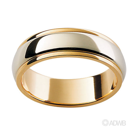 18ct White and Yellow Gold Band