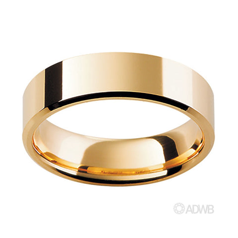 18ct Yellow Gold Fine Traditional Flat Band