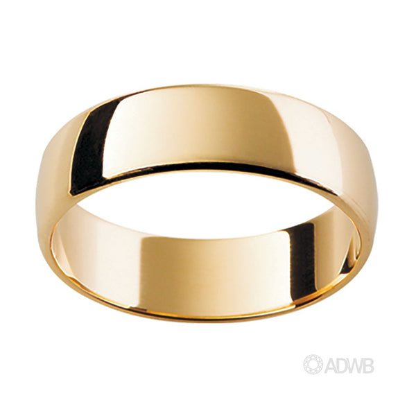 18ct Yellow Gold Tradition Half Round Band