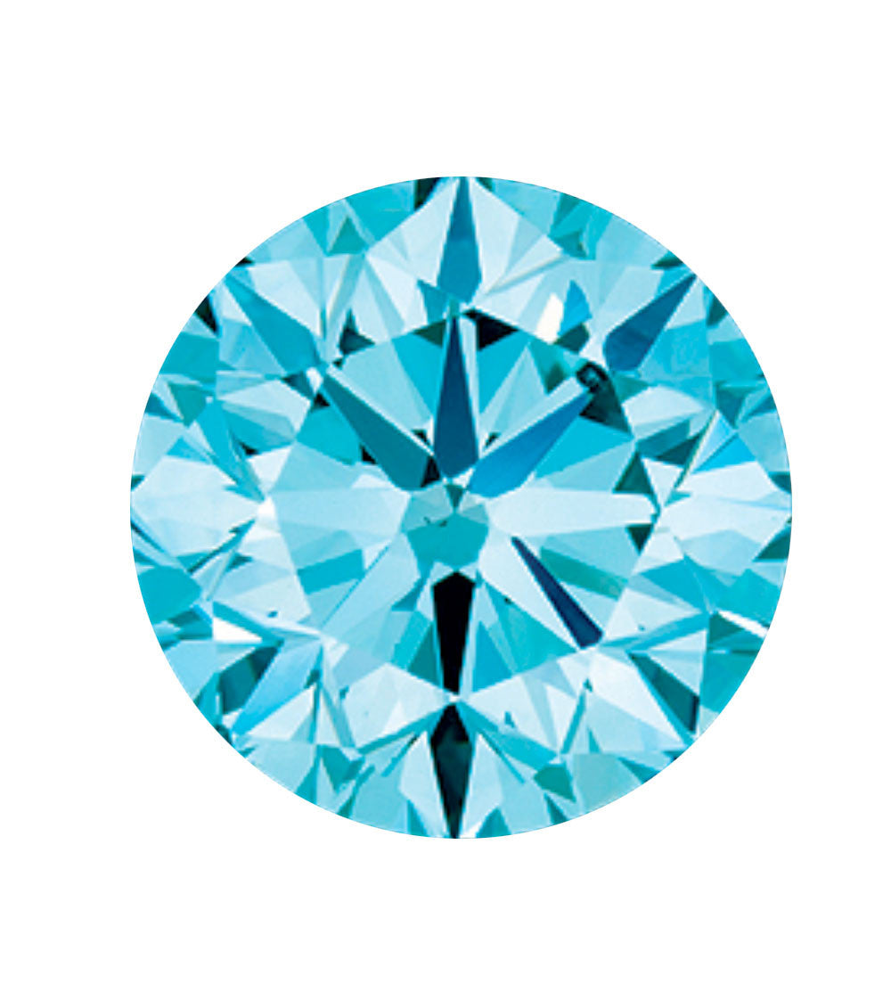 Aqua blue coloured diamond
