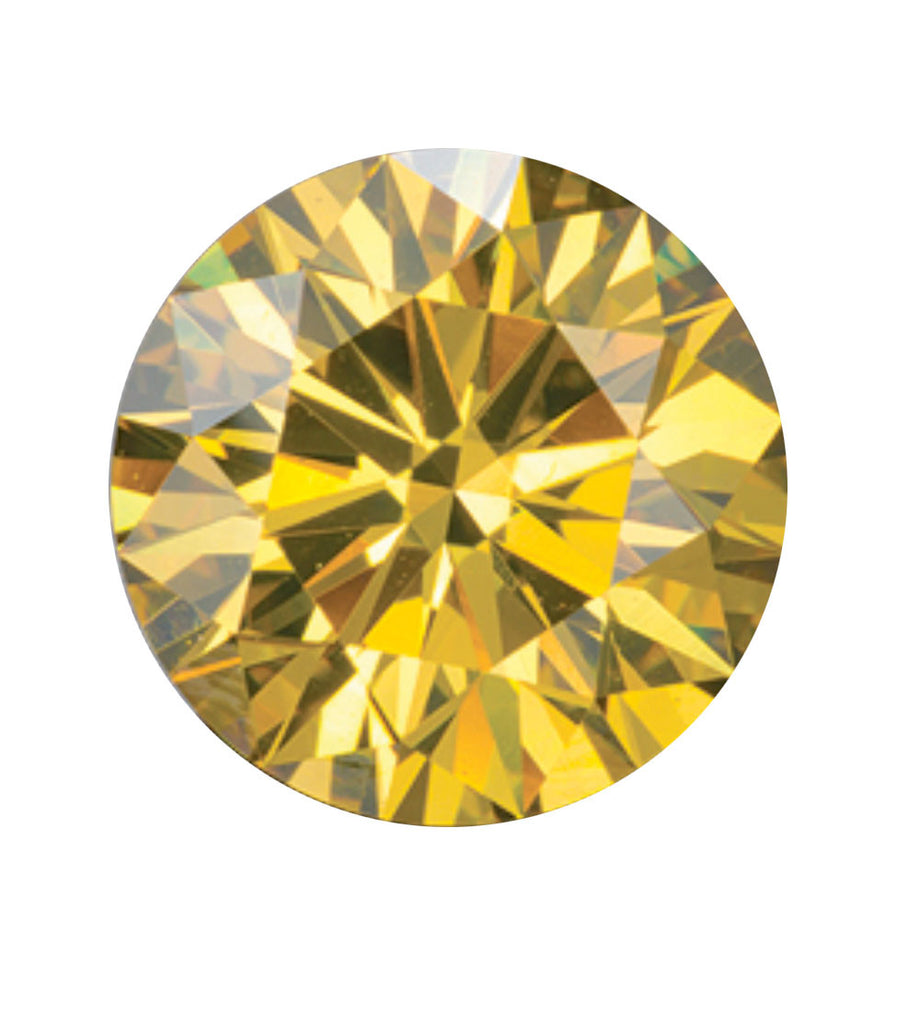 Golden yellow coloured diamond, available in Canary yellow and Golden yellow