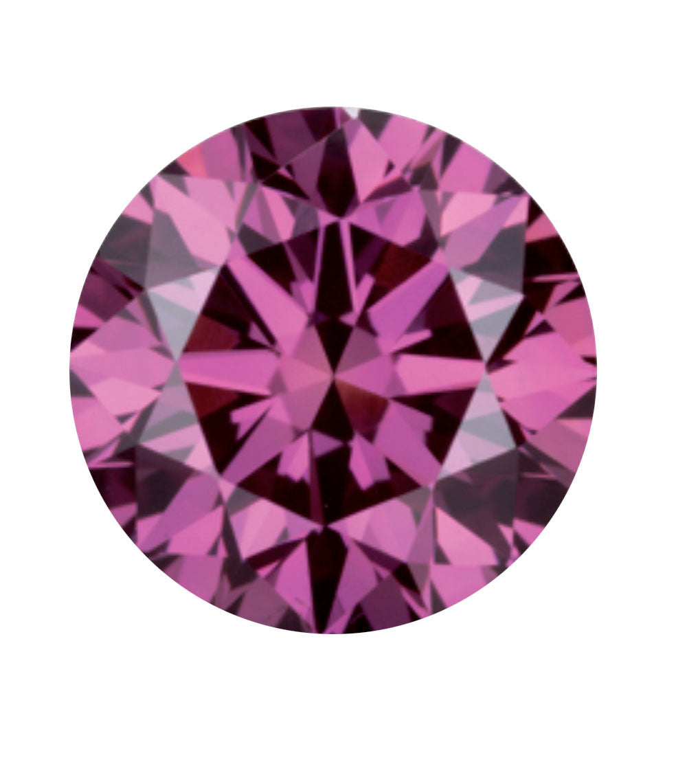 Purplish pink coloured diamond