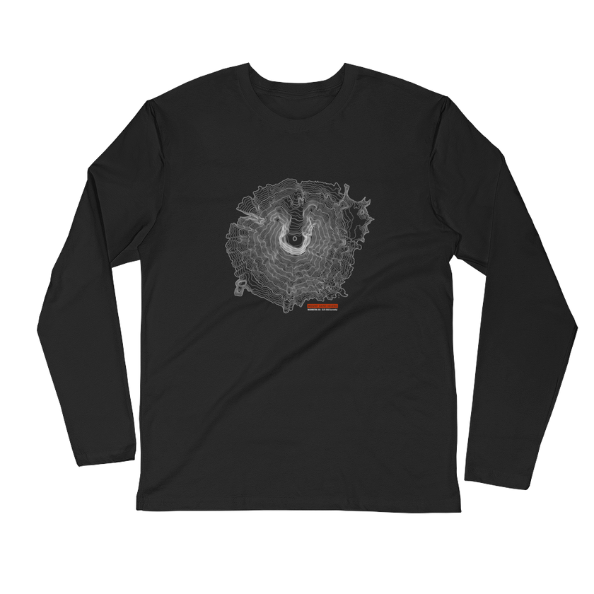 Mount Saint Helens - Long Sleeve Fitted Crew