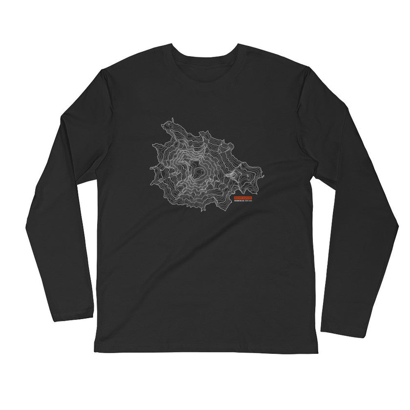 Mount Rainier - Long Sleeve Fitted Crew
