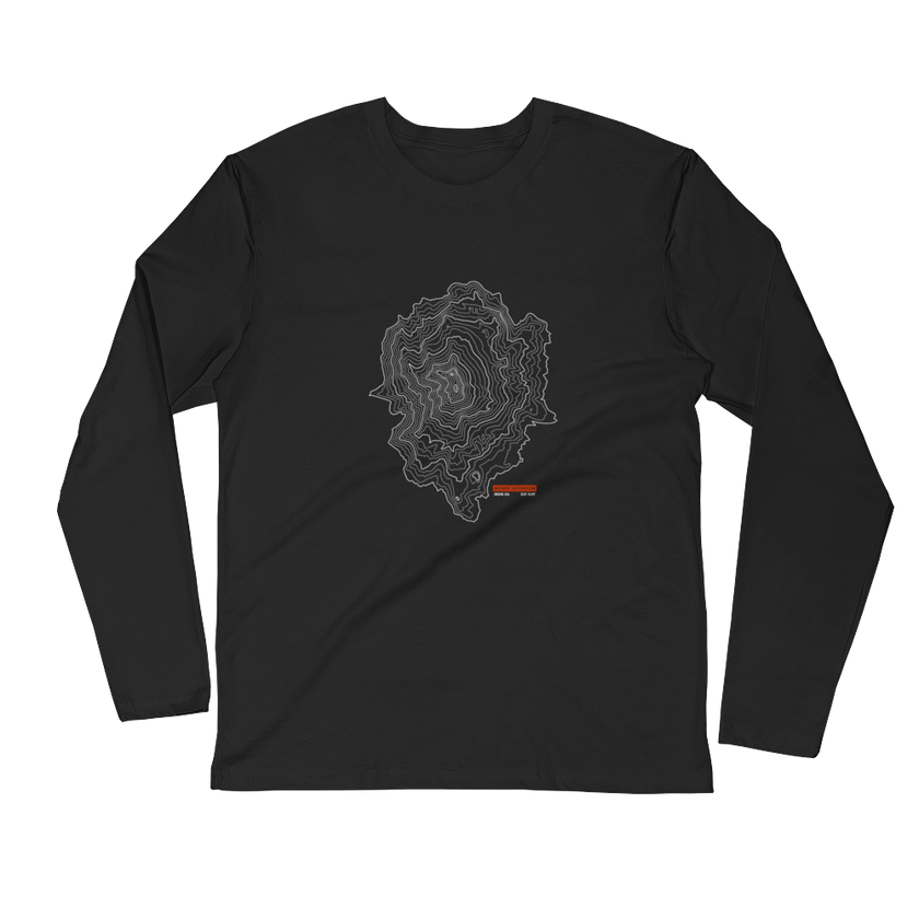 Mount Jefferson - Long Sleeve Fitted Crew