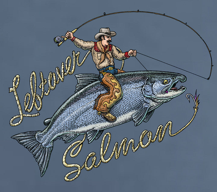 Blue Cowboy Salmon T-Shirt