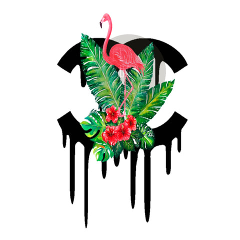 CAMISETA  TROPICAL FLAMINGO