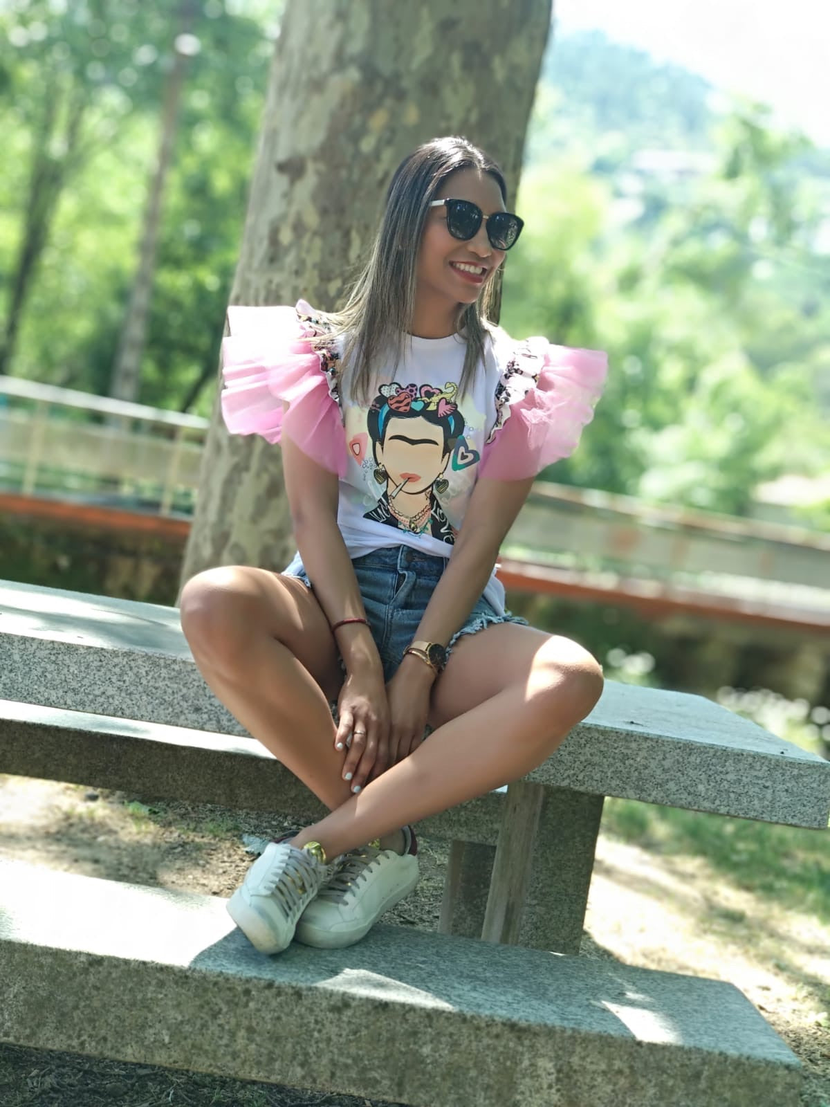 Camiseta Frida chill blanca