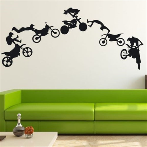 Motocross Sticker Home Wall Decor Waterproof Vinyl Decal Art