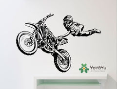 Motocross Freestyle Trick Wall Sticker Extreme Sports Art Vinyl Wall Decal