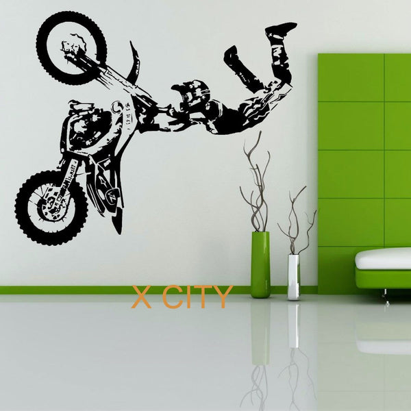 STUNT MOTOCROSS DIRT BIKE Creative Vinyl Art Decal