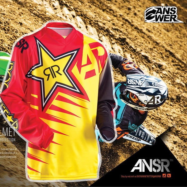 ANSWER RockStar moto Jersey MX Motocross jersey bike