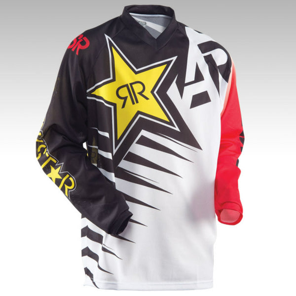 ANSWER Rock Star Moto Jersey MX MTB Off Road Mountain Bike Jersey