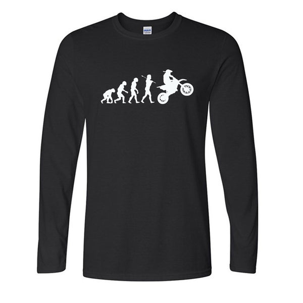 Autumn Evolution Motocross T Shirts Men Funny Dirtbike Man Tee Cotton O Neck Mens Long Sleeve t shirt Free Shipping Tops Tees