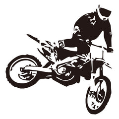 Motocross Driver Art Decals Home Decor For Living Room Bedroom Wall Decals