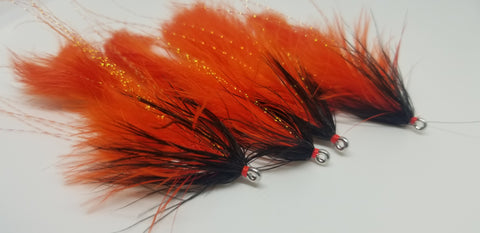 6 Bucktail postiches Combo en Floride Couleurs-Hareline fly tying Streamer Wing