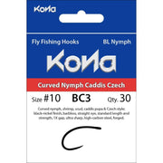 Kona Curved Nymph Caddis Czech BC3 Hook